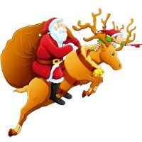 عکس پروفایل کریسمس + بکگراند بابانوئل