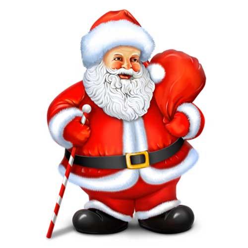 عکس زیبا از بابا نوئل برای پروفایل