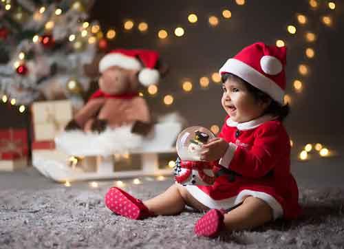ژست های زیبای کودکانه کریسمس