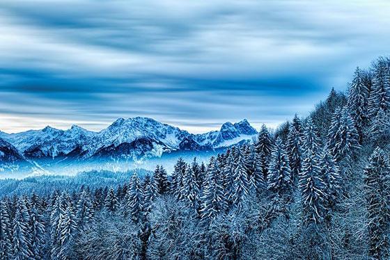 عکس زمستان رویایی و حیرت انگیز