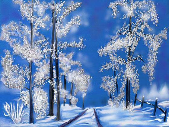 عکس فانتزی زمستان برفی (2)