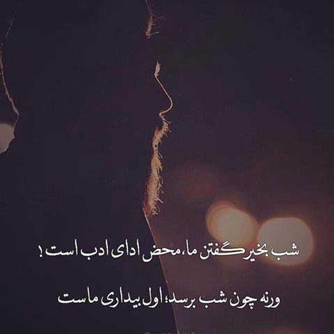 شب بخیر گفتن به عشقم