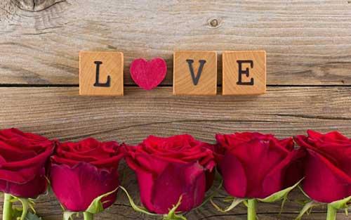 عکس پروفایل گل فانتزی جدید با متن انگلیسی دوست دارم