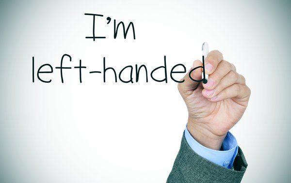 عکس نوشته I am left handed