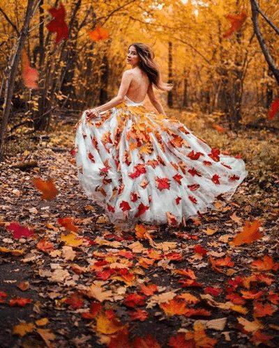 ژست پاییزی عروس داماد