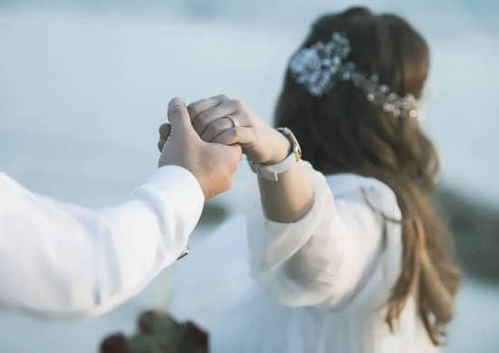 عکس هنری عروس و داماد