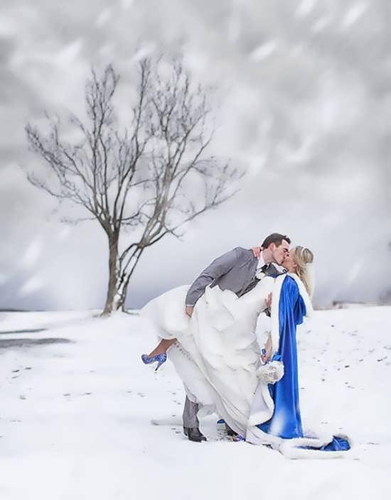 عکس پروفایل زمستانی برای عروس و داماد
