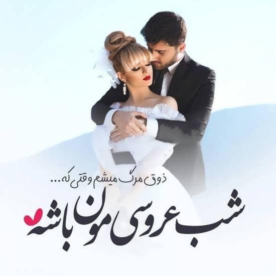 عکس رمانتیک عروس و داماد
