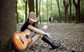 عکس گیتار و دختر برای پروفایل واتساپ