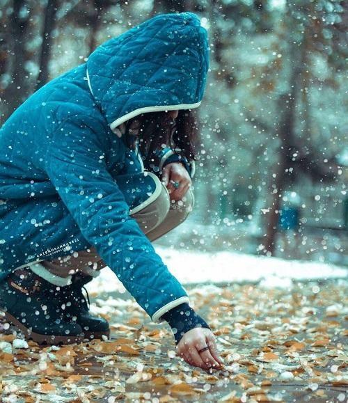 عکس پروفایل زمستانی,عکس های زمستانی دختر