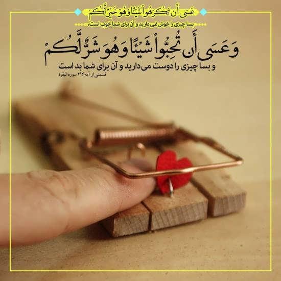 تصویر از عکس پروفایل آیه های قرآنی + جملات حکیمانه از قرآن