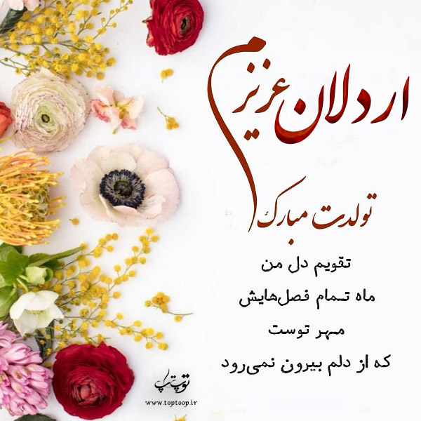 تصویر از عکس نوشته اردلان تولدت مبارک + متن تبریک تولد
