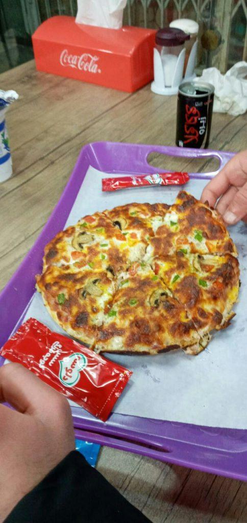 اینستاگرام پیتزا استوری