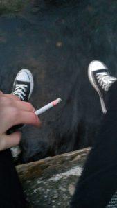 استوری فیک سیگار کشیدن ,
